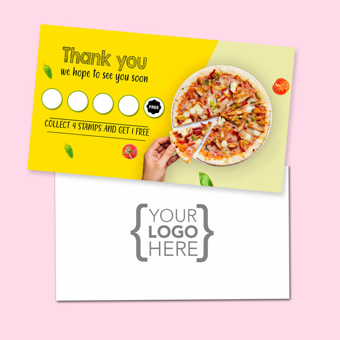 10% Sale Pizza Stamp Card