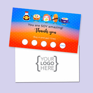 10% Sale Sushi Stamp Card