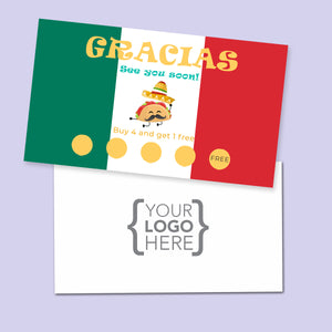 10% Sale Tacos Stamp Card
