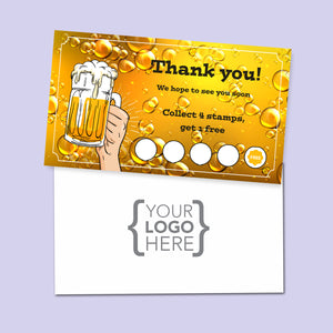 10% Sale Beer Stamp Card