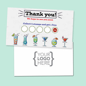 10% Sale Cocktails Stamp Card