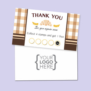 10% Sale Bakery Stamp card