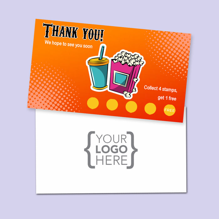 10% Sale Popcorn Stamp Card