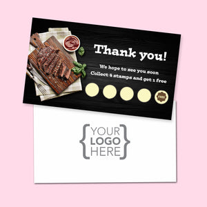 10% Sale Steak Stamp Card