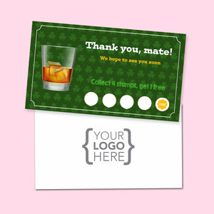 10% Sale Whisky Stamp Card