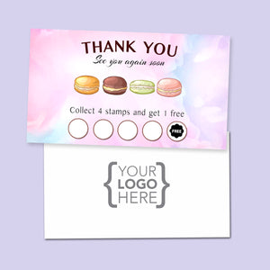 10% Sale Macaroon Stamp Card