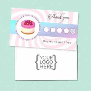 10% Sale Cheesecake Stamp Card