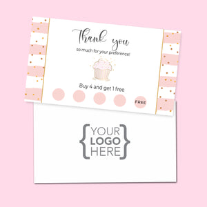 10% Sale Cupcake Sweets Stamp Card
