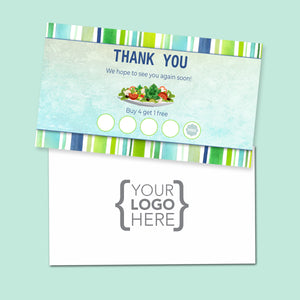 10% Sale Salad Stamp Card