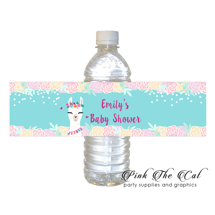 Alpaca llama bottle label printable