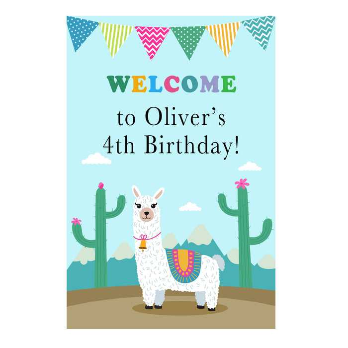 Alpaca welcome sign birthday baby shower printable