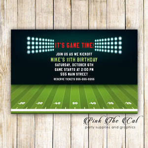 30 american football invitations kids adult birthday printable