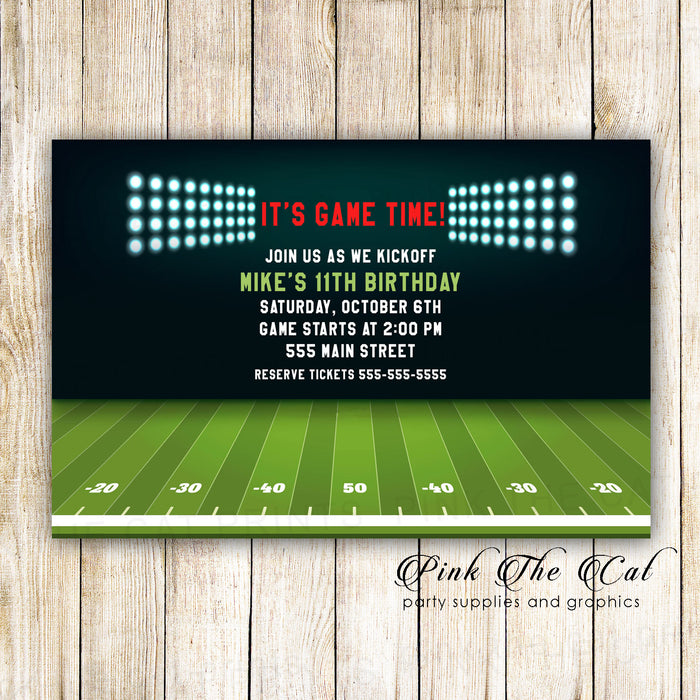 30 american football invitations photo paper
