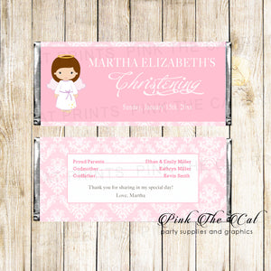 30 Candy Bar Wrappers Angel Girl Baptism Christening