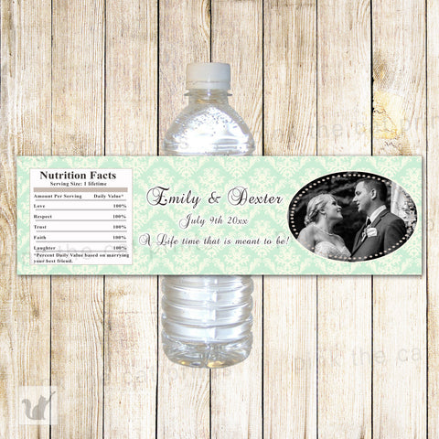 100 Bottle Labels Wedding Bridal Shower Anniversary Wrappers