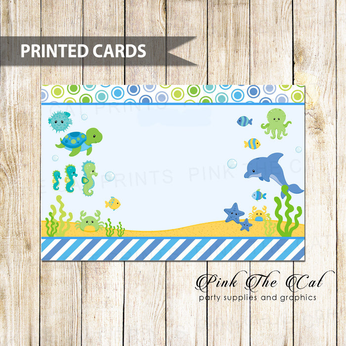 30 thank you cards blank invitations sea animals & envelopes