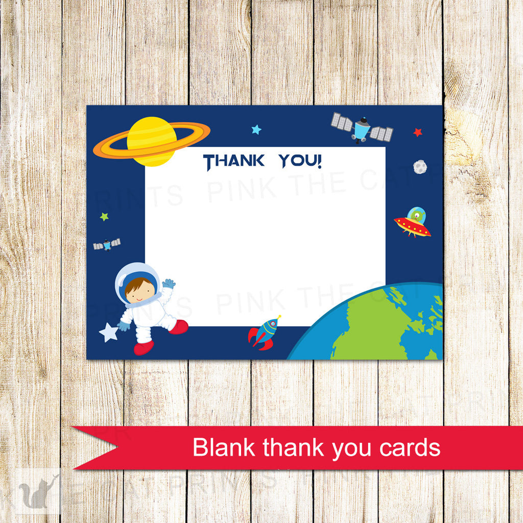 Astronaut Blank Thank You Card With Envelopes