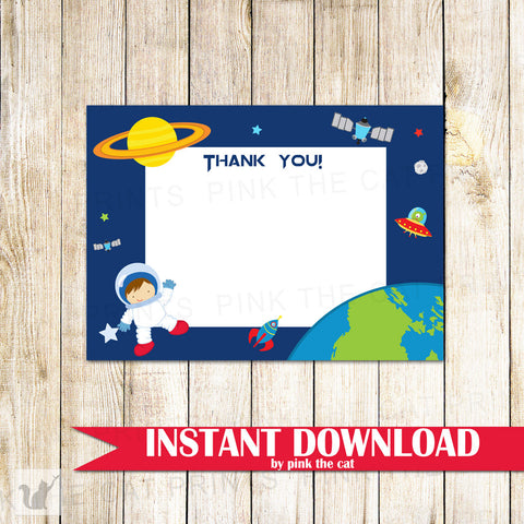 astronaut thank you card
