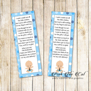 25 Bookmarks Baby Boy Shower Favors Little Man