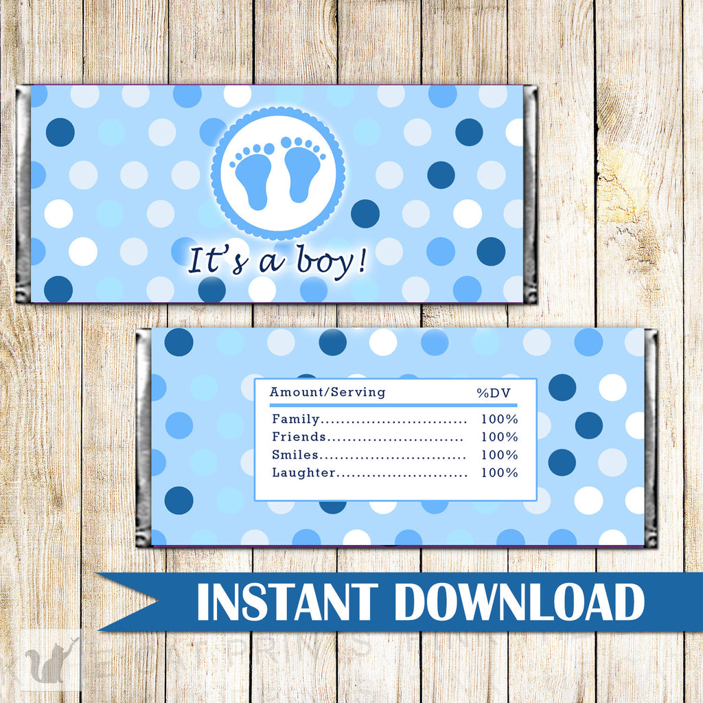 candy bar wrapper baby shower