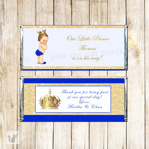 Candy bar wrappers prince vintage baby shower printable instant download