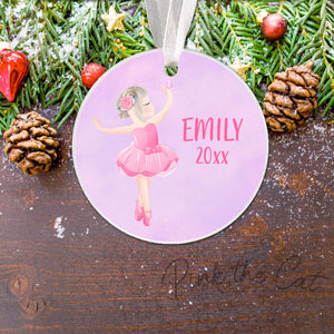 Personalized Christmas ornament ballerina