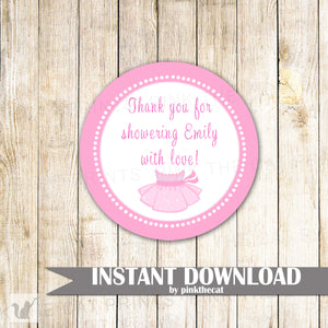 Ballerina Gift Favor Label Sticker Tag Baby Shower Birthday