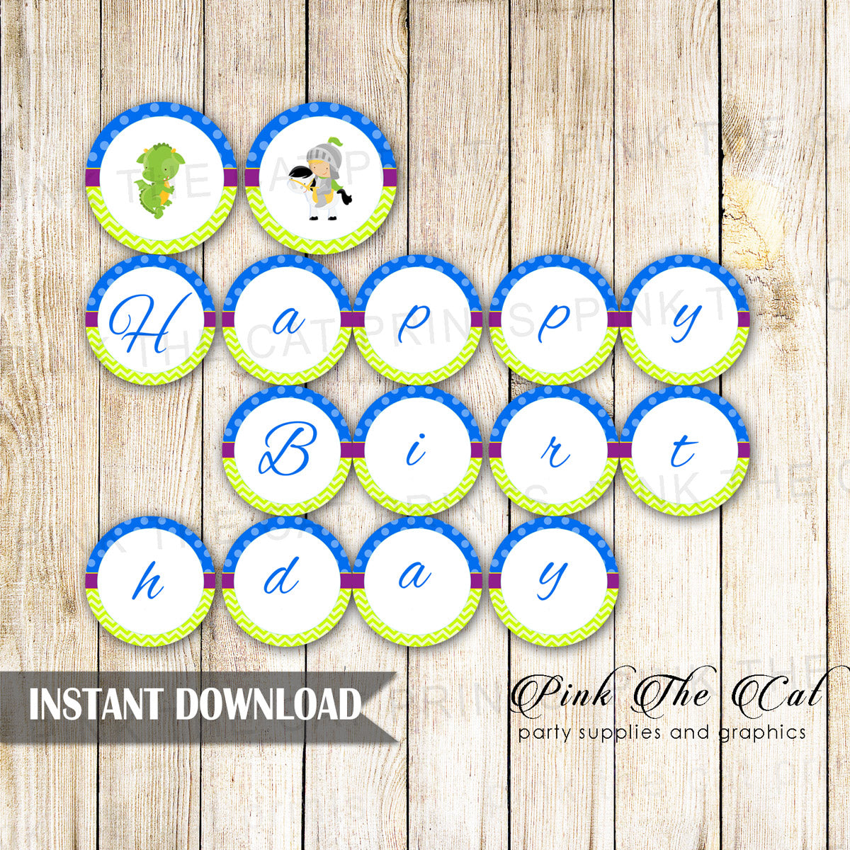 photograph about Birthday Banner Printable identified as Knight Dragon Satisfied Birthday Banner Printable