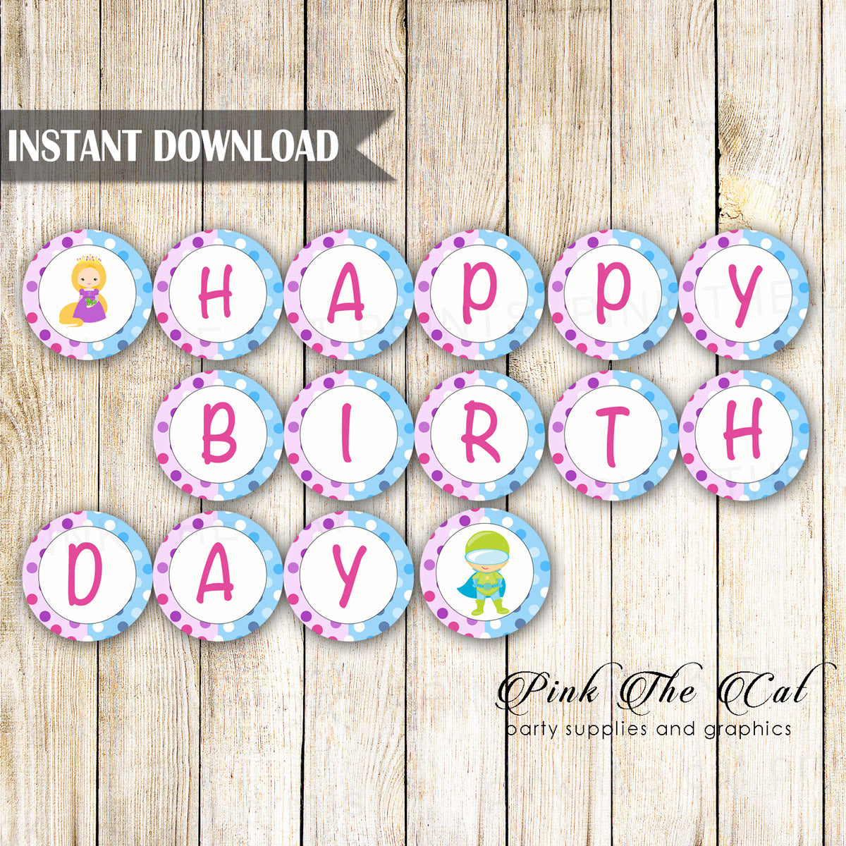picture about Happy Birthday Printable Banner named Superhero Princess Satisfied Birthday Banner Printable