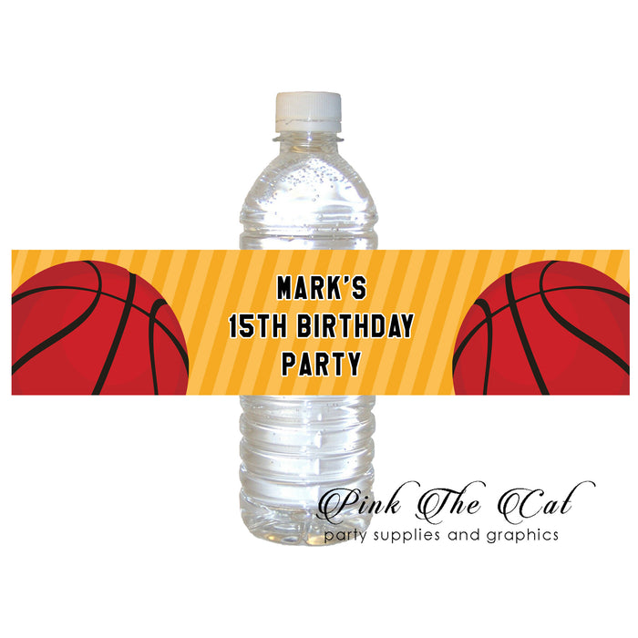 Basketball ball bottle label (set of 60)