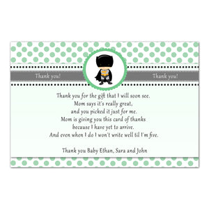 30 superhero thank you cards boy baby shower green black