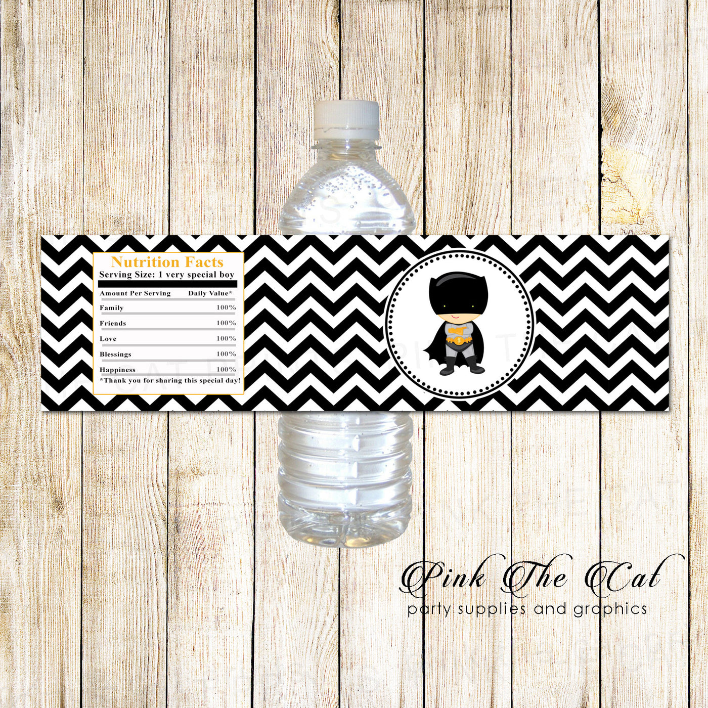 graphic regarding Printable Bottle Labels titled Bottle labels superhero bat birthday little one shower printable