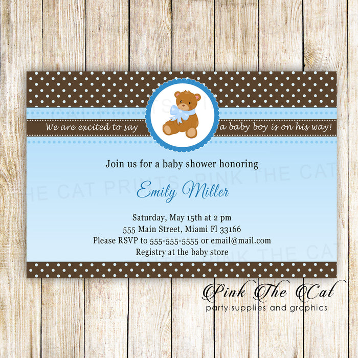 30 bear baby shower invitations photo paper