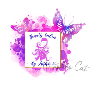 Premade beauty girl logo design