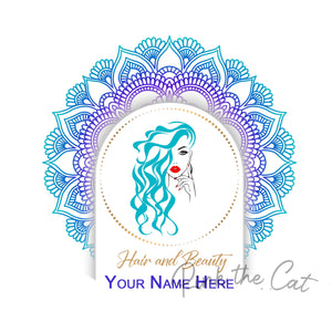 Premade beauty girl moroccan logo design