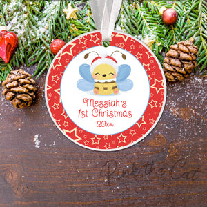 Baby bee christmas tree ornament