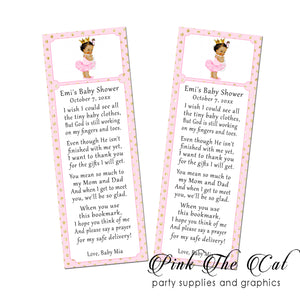 25 Bookmarks Princess Vintage Baby Shower Favors Personalized