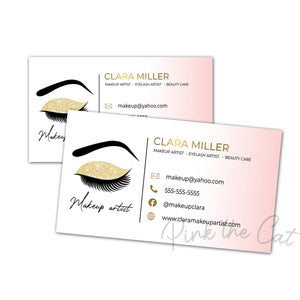 Premade makeup eyelashes business card