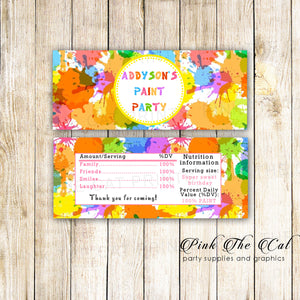 30 Candy Bar Wrappers Art Painting Birthday Party