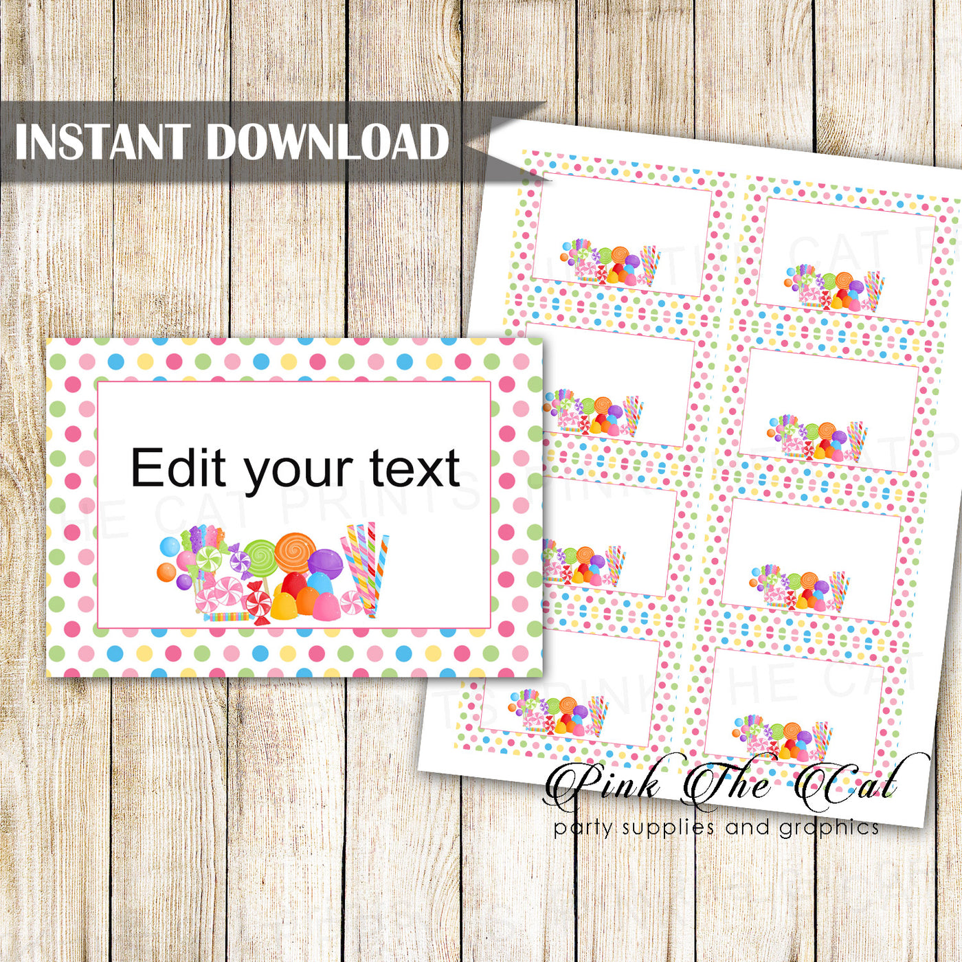 picture about Small Printable Labels identify Sweet topic desire label tag tiny card printable