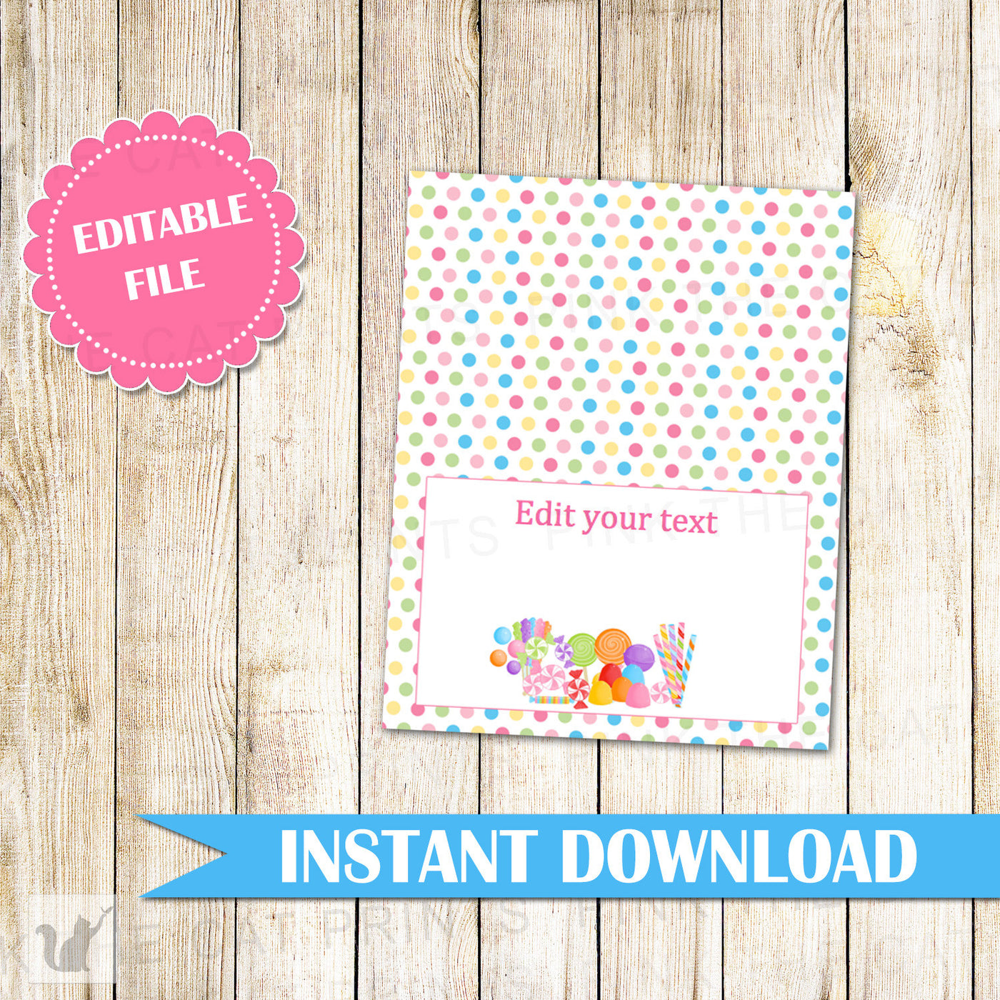 graphic relating to Printable Candyland Cards called Candyland Buffet Food stuff Label House Seating Standing Card