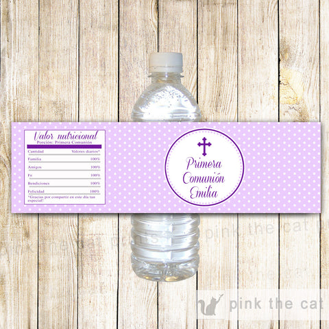 100 Bottle Labels Girl First Holy Communion Photo Wrapper