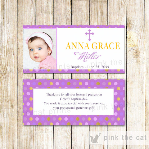50 Candy Bar Wrappers Girl Baptism Christening