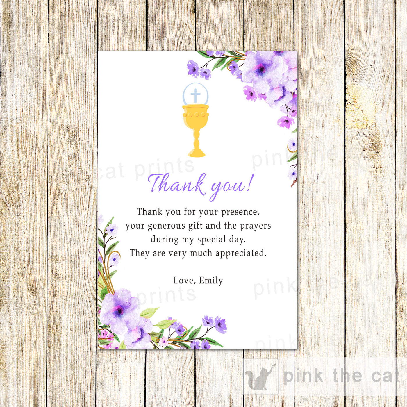 It is a picture of Printable First Communion Cards regarding creative