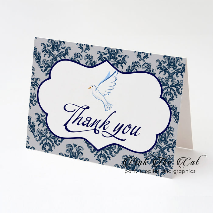 Dove confirmation thank you card folded (set of 30)