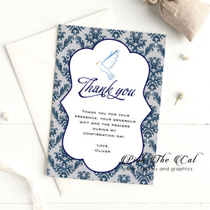 Dove confirmation thank you card printable
