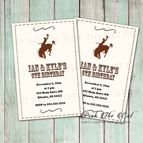 30 invitations rodeo cowboy birthday party rustic kids adults