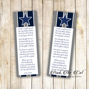 Football bookmarks american football sports navy blue star printable