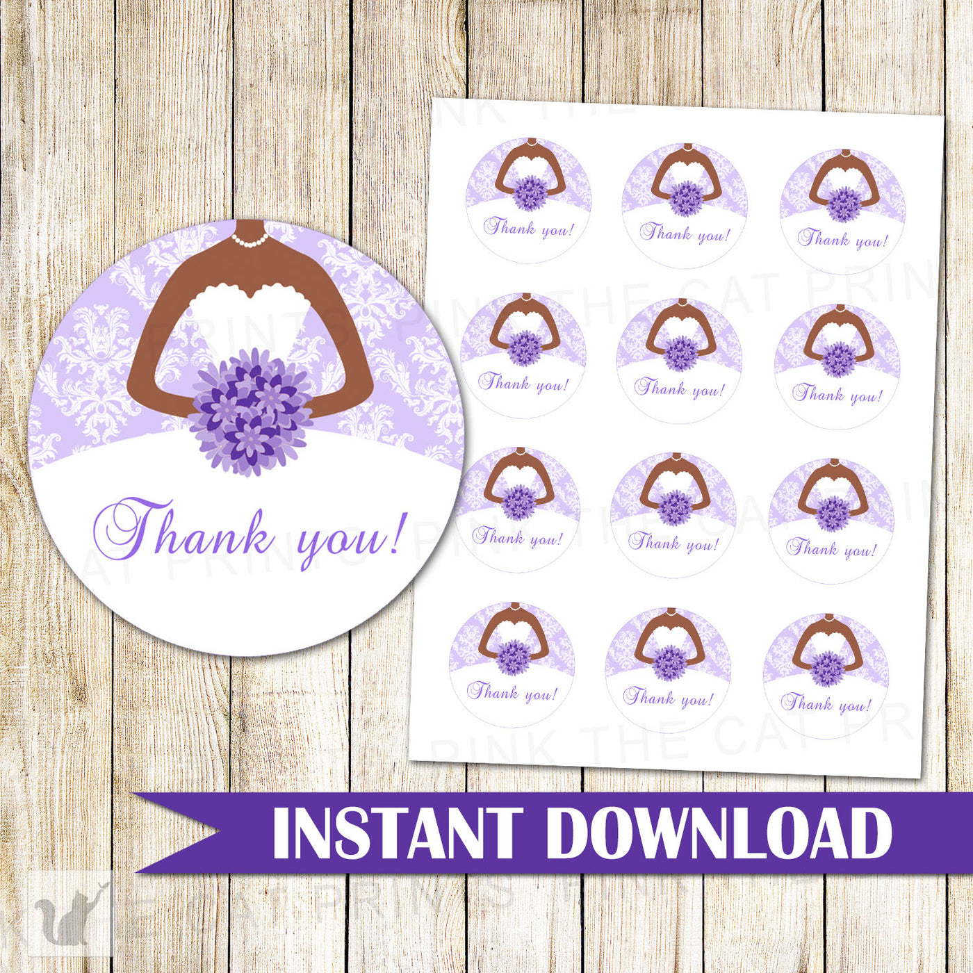 image about Bridal Shower Gift Tags Free Printable identify Bridal Shower Present Label Like Sticker Tag Lavender Gown
