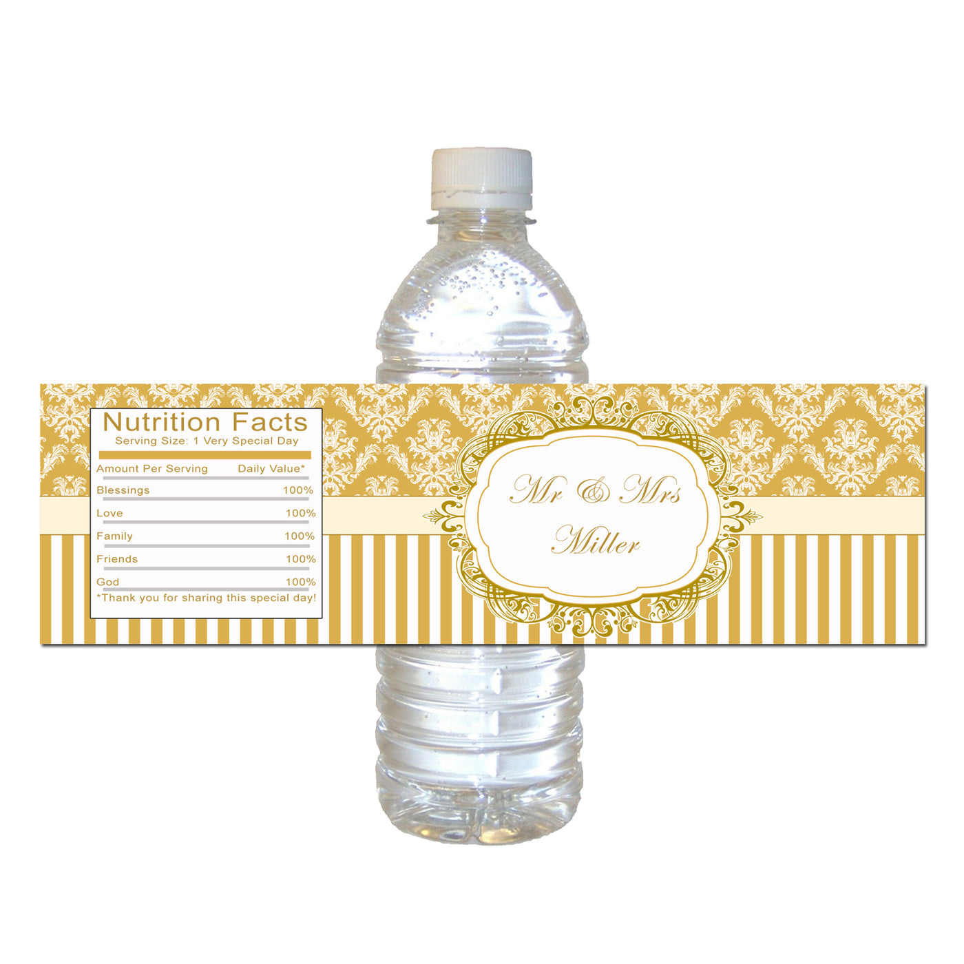 image regarding Printable Bottle Labels named Gold Bottle Labels Bridal Shower Marriage Printable